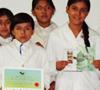 Entrega de premios del concurso de afiches de prevención de dengue