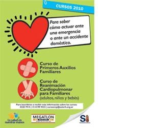 Cursos de Reanimación Cardiopulmonar  y Primeros Auxilios Familiares