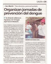 Jornadas de prevención del dengue  Aguaray, Tartagal y General Mosconi - Salta
